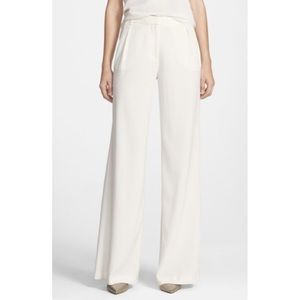 CHELSEA28 White Pleated Wide Leg Pants